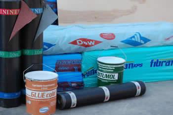 Διάφορα υλικά για την μόνωση σκεπών